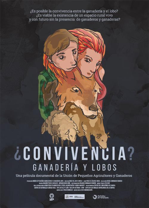 Cartel oficial de la película ¿Convivencia? Ganadería y lobos.