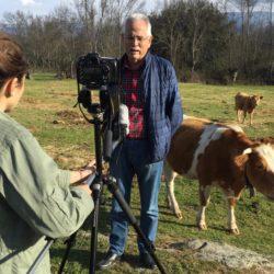 Entrevista al secretario general de UPA Ávila, Nacho Senovilla, en una explotación ganadera en Navalmoral de la Sierra (Ávila)