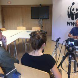 Momento de la entrevista a Luis Suárez (WWF)