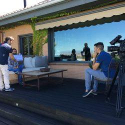 Momento de la entrevista a Odile Rodríguez de la Fuente